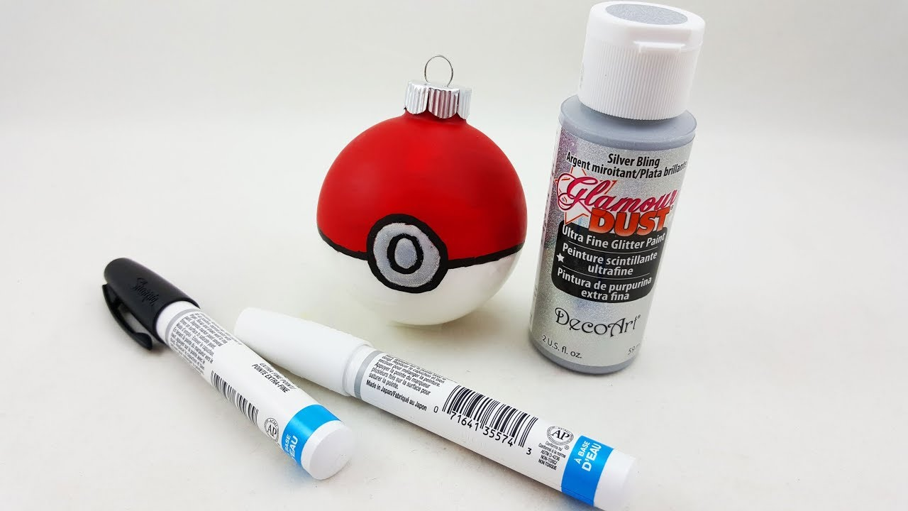 easy pokeball ornament diy diy christmas ornaments for pokemon diy lovers by ornament shop