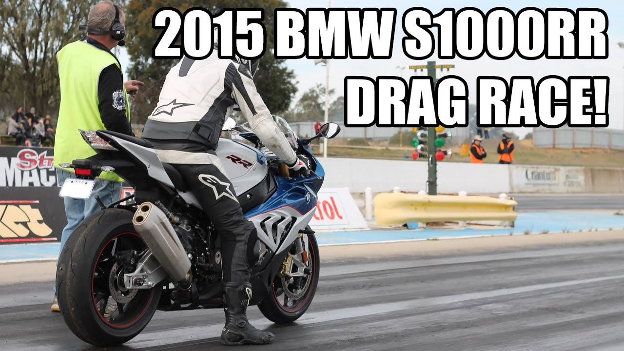2015 BMW S1000RR Quarter Mile Drag Race