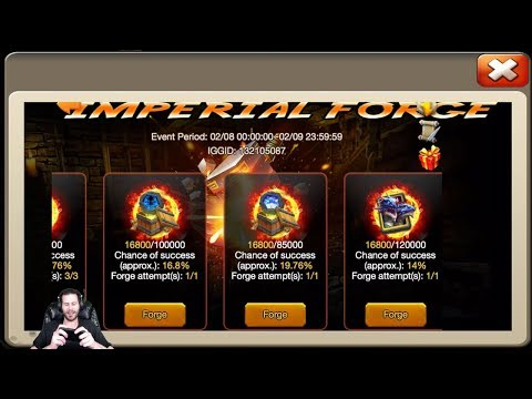 Imperial Forge Gambling For Psysheild Crest Set 5 NEW Event Castle Clash