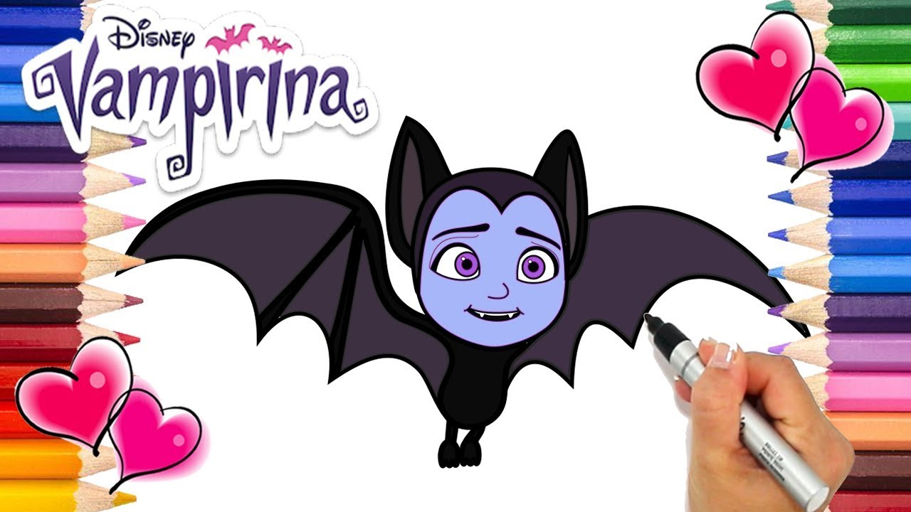 Vampirina Going Batty Coloring Page Vampirina Coloring Book Disney Jr Printable Coloring Page Youtube