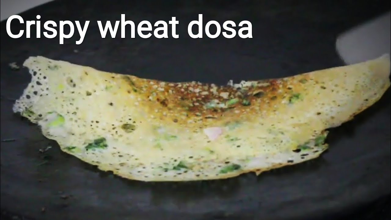 The everyday cooking tvh dailymotion video wheat dosa recipe instant dosa recipe crispy wheat and rice flour dosa instant ccuart Gallery