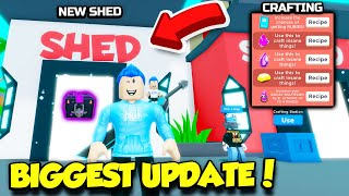 This Is The BIGGEST YOUTUBER SIMULATOR UPDATE EVER!! *Crafting* (Roblox)