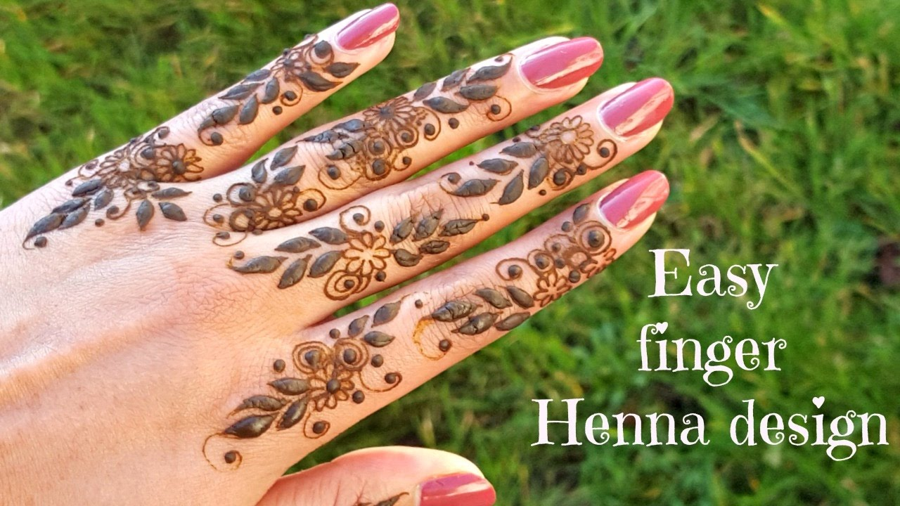 Beautiful Easy Diy Henna Mehndi Design On Fingers Youtube