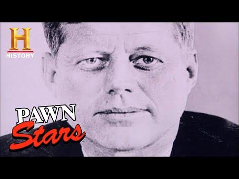 Pawn Stars: AMAZING RARE JFK TAPE *with A MASSIVE Price Tag* (Season 8) | History