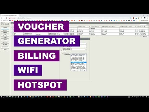 Billing WiFi: Generate Voucher (User Password) di User Manager Hotspot
