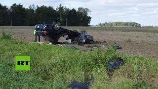 Un sospechoso a la fuga vuelca su coche al evitar una colisión