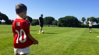 Kai Rooney Cheers On His Dad (Wayne Rooney) As He Trains To Be Ready For The World Cup