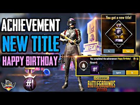 How  to unlock #1/100 Title | Happy Birthday Achievement | Cake Locations