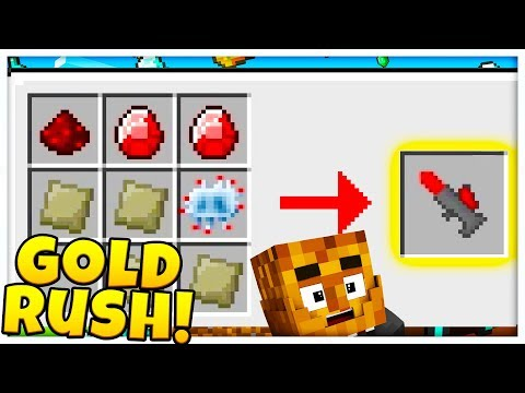 TEWTIY STEALS MY CHANNEL! *MINING LASER* GOLD RUSH MODDED GAMEMODE - Modded Minecraft Minigame