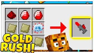 TEWTIY STEALS MY YOUTUBE CHANNEL *UPDATE MINING LAZER* GOLD RUSH - Modded Minecraft Minigame