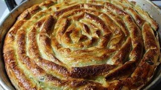 Türkische Börek mit frischem Spinat# Baklavalik yufkadan ispanakli börek