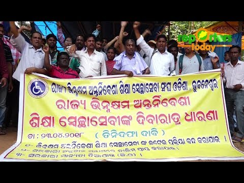 Differently abled  teachers hits road over 3 points charter demand