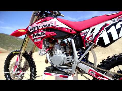 Motocross Action tests a Honda CR112 Super Mini 2 Stroke