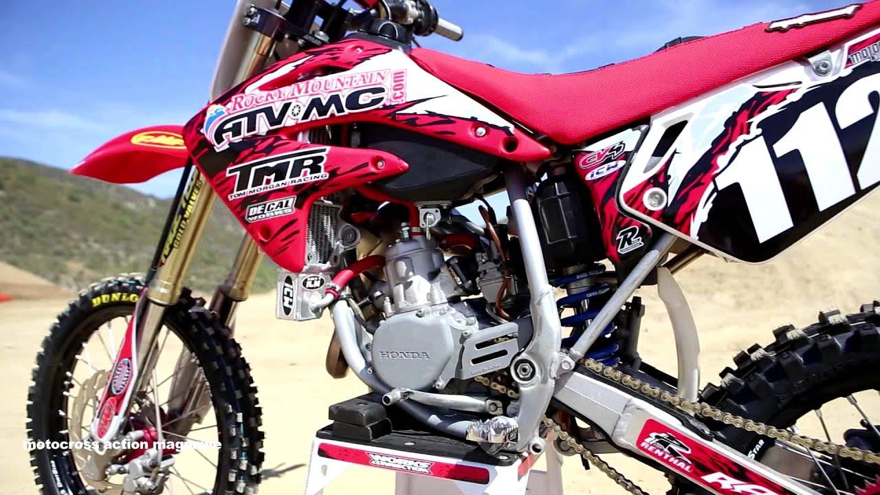 Motocross Action Tests A Honda CR112 Super Mini 2 Stroke