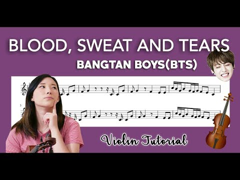 """""""Blood, Sweat, and Tears"""" BTS (방탄소년단) VIOLIN COVER AND TUTORIAL"""
