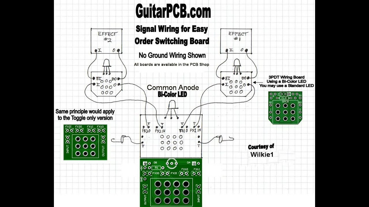 guitarpcb easy order switching board demo youtube rh youtube com 3PDT Footswitch Alternative 3PDT Wiring
