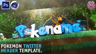 Free Pokemon Header Template   C4D + Photoshop by Qehzy