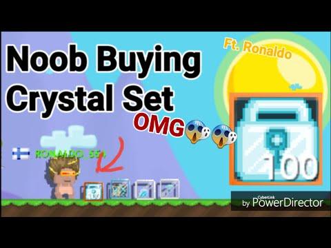 Noob Buying Crystal Set! OMG - Growtopia