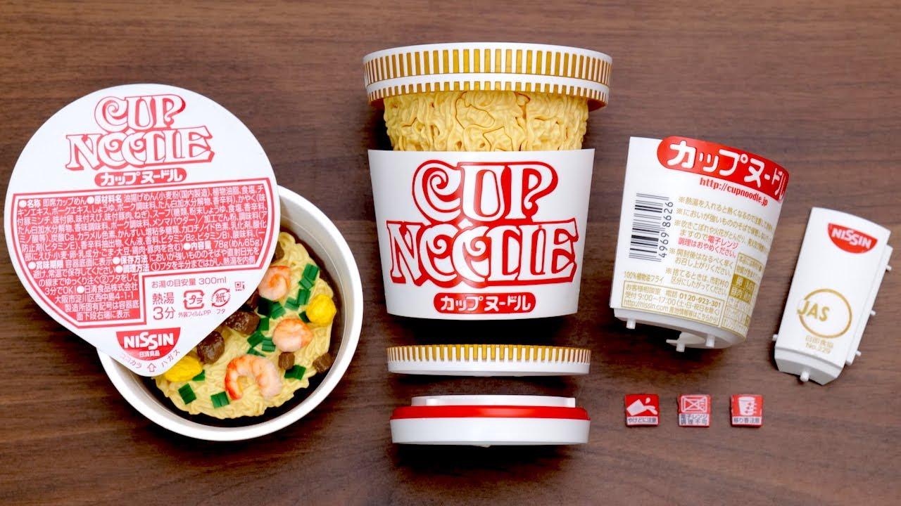 【前編】カップヌードルプラモデル Nissin Cup Noodles Plastic Model Kit. Japanese instant ramen