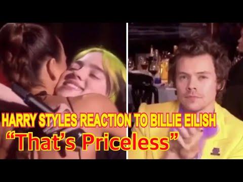 Harry Styles reaction to Billie Eilish at Brit Awards 2020