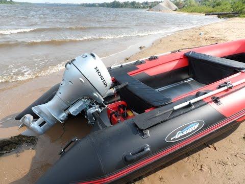 Лодка ПВХ Гладиатор 'Красный Дьявол'))) или Китаец против Хонда!!!