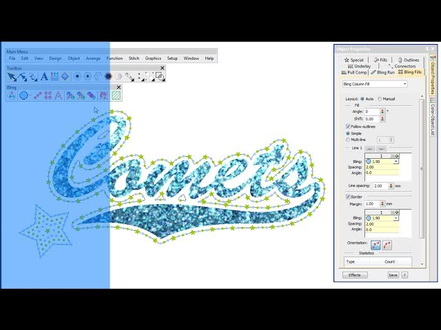 Digitizing for bling with Wilcom's EmbroideryStudio