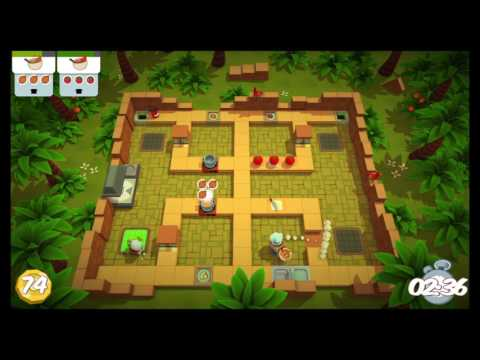 [Overcooked: Lost Morsel Level 1-5] 2-player Former World Record Score: 238  