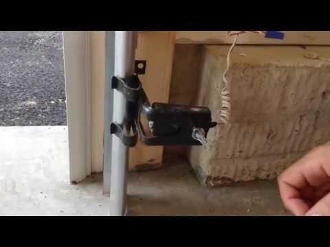 How To Fix A Garage Door Photo Eye Youtube