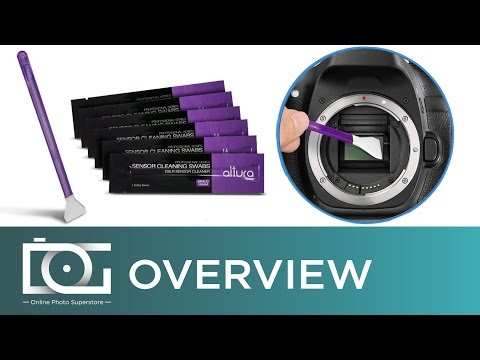 Camera Sensor Cleaner: APS-C Camera Sensor Cleaning Swabs by Altura Photo® | How-To Video