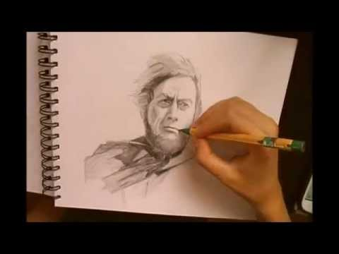 Time Lapse Drawing - Captain Ahab