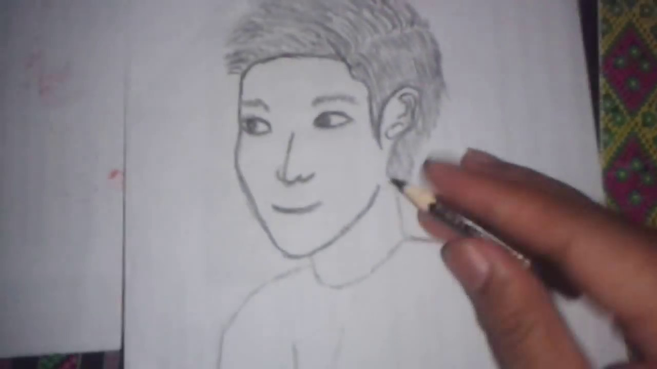 Cara menggambar wajah dengan pensil
