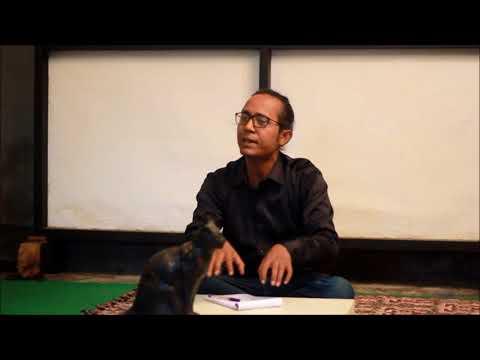 Samudra kajal saikia at the Anga art collective