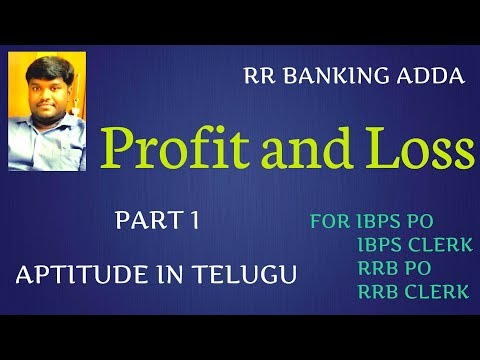Profit and Loss in Telugu || Quantitative Aptitude Tricks in Telugu