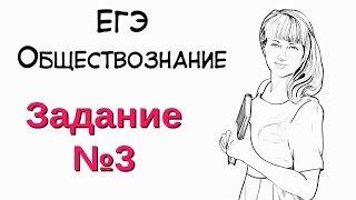 Задание №3 в ЕГЭ по обществознанию.