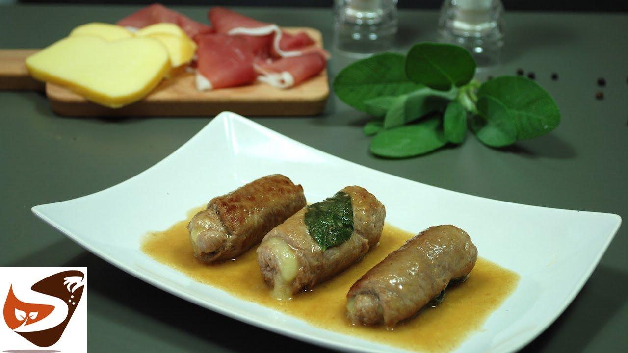 Involtini di carne con ripieno di prosciutto e formaggio for Secondi di carne