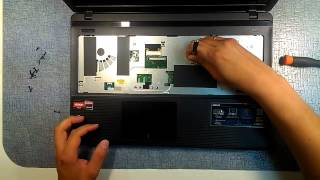 Qanday tizza ASUS X55U, X55A, X75, K53B, K73B (X55U, X55A, K53B, K73B ASUS disassembly)disassemble uchun