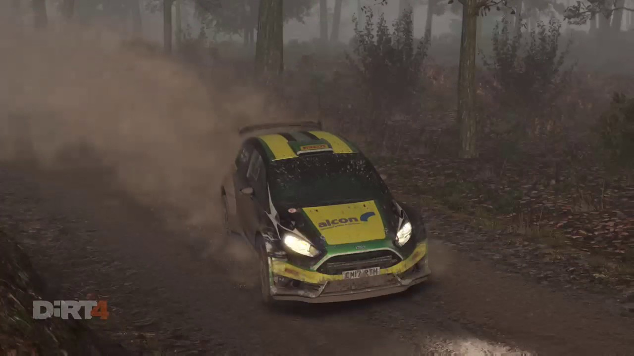 dirt 4 xbox one intense rally stage in the fog youtube. Black Bedroom Furniture Sets. Home Design Ideas