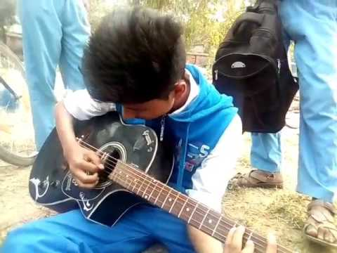 Fossils Ekla Ghor Guitar Cover in school