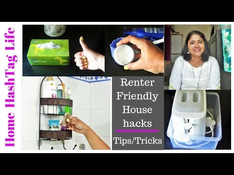 Household Tips/Tricks For Small Apartment | Renter Friendly Home Organization Hacks