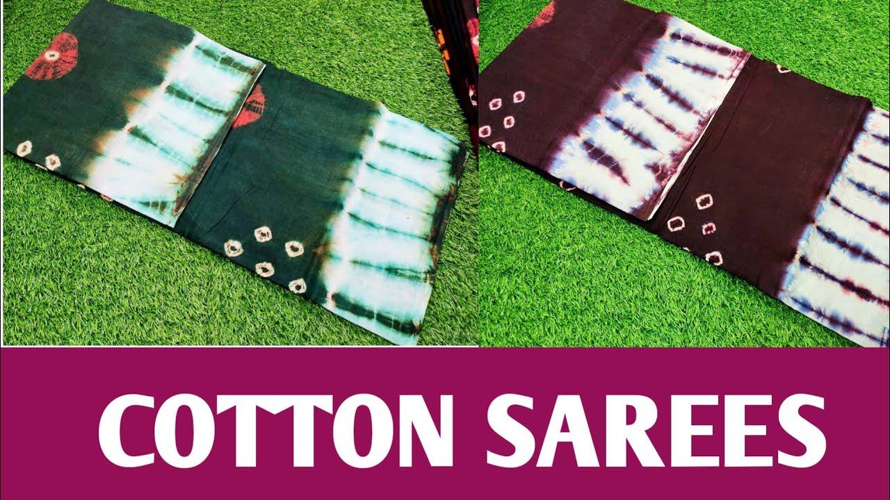 Trending comfortable cotton sarees designer cotton sarees collection