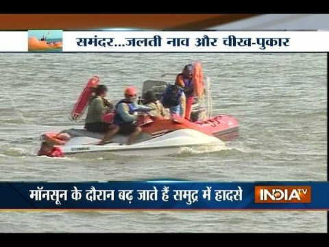 Mumbai Fire Brigade Team Conducts Mock Drill in Deep Sea