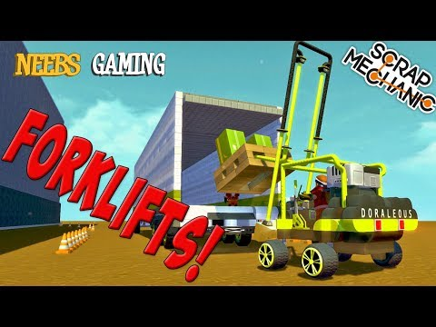 Scrap Mechanic - Forklift Challenge!