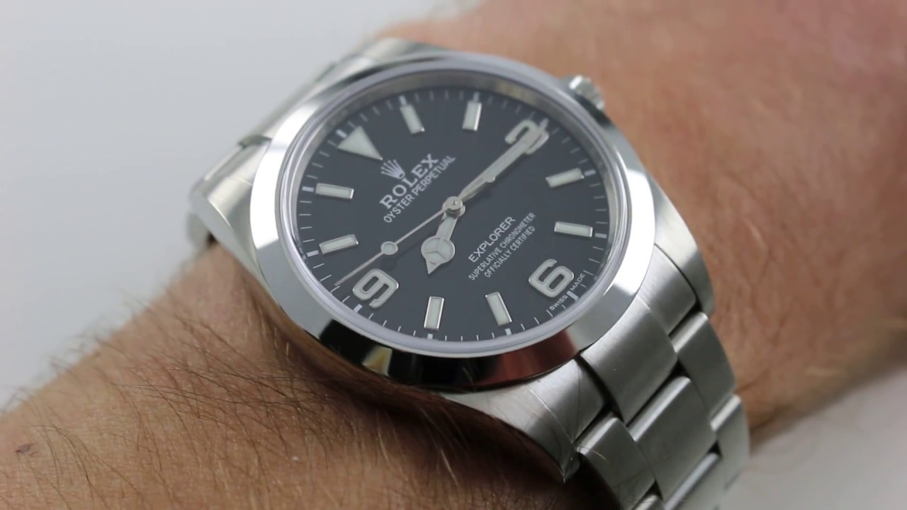 Rolex explorer i 214270 black dial luxury watch review youtube for Rolex explorer