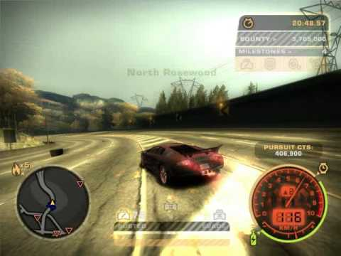 Need for Speed most wanted Black edition Lambo Ridin' in the top