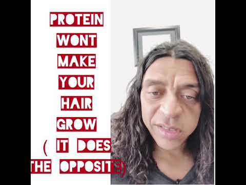Protein myth and hair growth - detox and detoxification