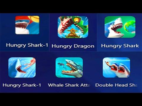 Hungry Shark World, Hungry Shark Evolution, Hungry Dragon, Double Head Shark