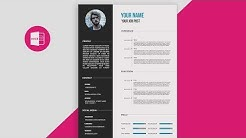 CV/Resume template Design tutorial with Microsoft Word   free PSD+DOC+PDF