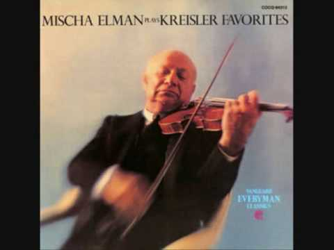 "Mischa Elman Plays Fritz Kreisler: ""Rondino On A Theme Of Beethoven"""