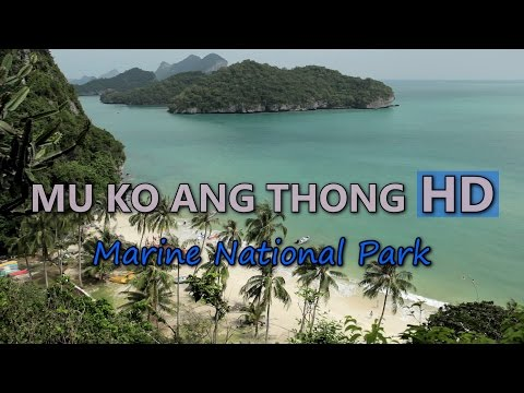 Mu Ko Ang Thong Marine National Park HD Video Stock Footage Paradise Exotic Island Thailand Travel
