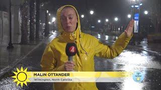"""Orkanen Florence slår till: """"Otroliga mängder vatten""""  - Nyhetsmorgon (TV4)"""